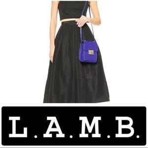 L.A.M.B. Camelia ll Crossbody Purse Bag INDIGO